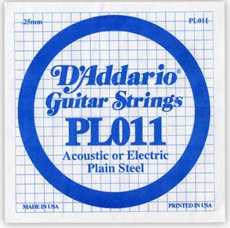"D`Addario PL011 .011"" Plain Steel Guitar String PL011"