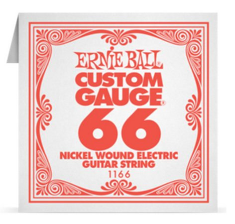 "Ernie Ball P01166 .066"" Nickel Wound Electric Guitar String P01166"