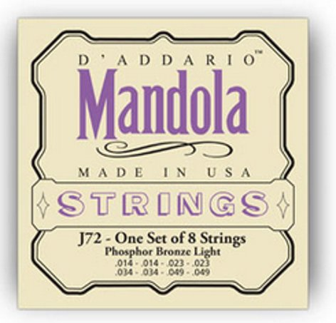 D`Addario J72 Light Phosphor Bronze Mandola Strings J72