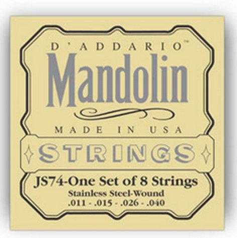 D`Addario JS74 Medium Stainless Steel Mandolin Strings JS74