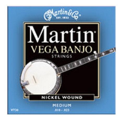 Martin Strings V-730 Vega Banjo Medium Nickel Wound Strings .010-.023 V730