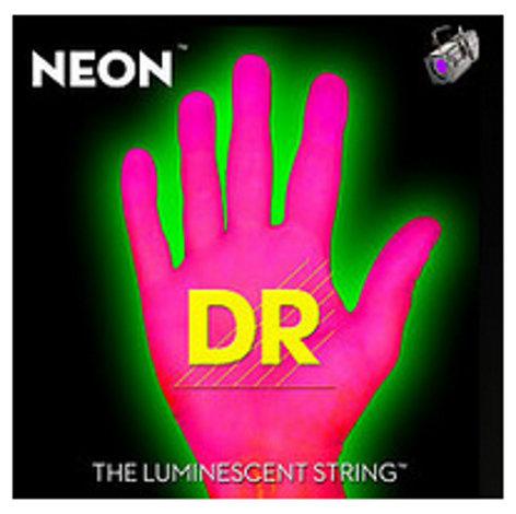 DR Strings NPE7-10 .010-.056 Medium 7-String Electric Guitar Strings in Hi-Def Pink NPE7-10