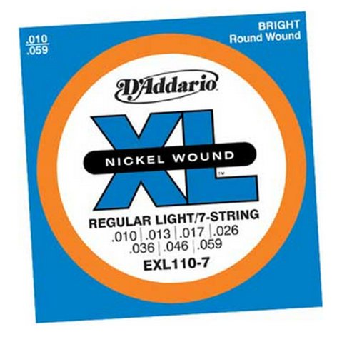 "D`Addario EXL110-7 .010-.056"" XL 7-String Electric Guitar Strings EXL110-7"