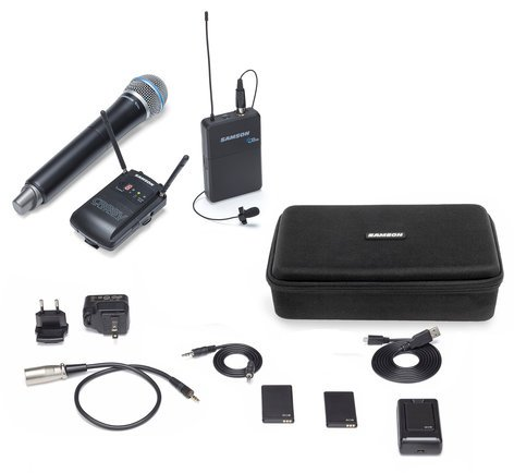 Samson Concert 88 Camera K Band Wireless Combo Microphone System SWC88VBH108-K
