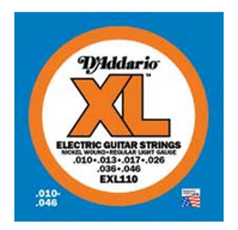 D`Addario EXL110-3D 3 Pack of Regular Light Electric Guitar Strings EXL110-3D