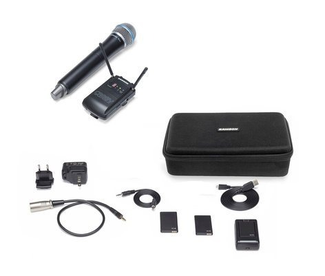 Samson SWC88VHQ8-D Concert 88 Camera (Handheld) D Band Wireless Microphone System with Q8 Handheld Microphone/Transmitter SWC88VHQ8-D