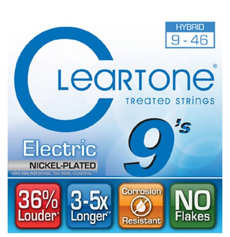 """Cleartone Guitar Strings 9419 .009-.046"""" Hybrid Electric Strings 9419-CLEARTONE"""