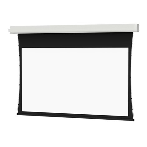 """Da-Lite Tensioned Advantage Electrol 92"""" Recessed Electric Ceiling Mounted Projector Screen with Da-Mat Surface 84399LS"""