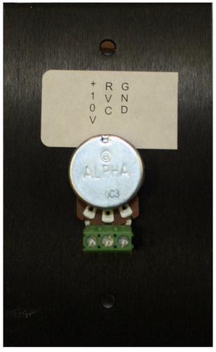 Stewart Audio WP-RVC-B  10k Ohm Potentiometer aluminum wall plate in black finish  WP-RVC-B