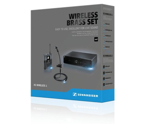 Sennheiser XS Wireless 1 Brass Set Wireless Mic System, for Brass, A-Frequency Range 548 - 572 MHz XSW1-908-A