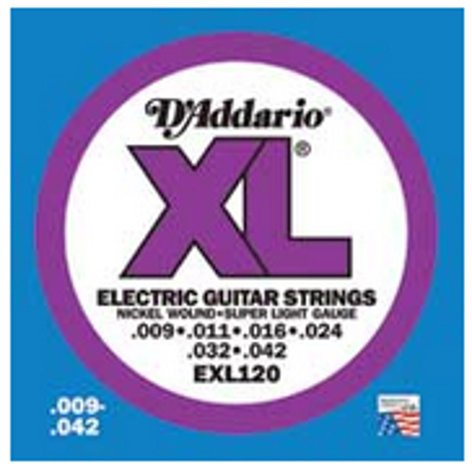 D`Addario EXL120-10P 10 Pack of Super Light XL Electric Guitar Strings EXL120-10P