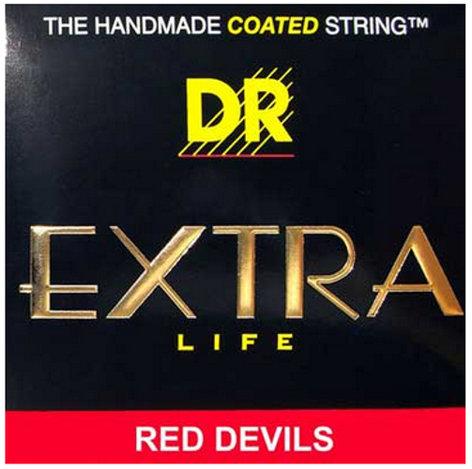 DR Strings RDE-10/52 Big-N-Heavy Red Devils Coated Electric Guitar Strings RDE-10/52