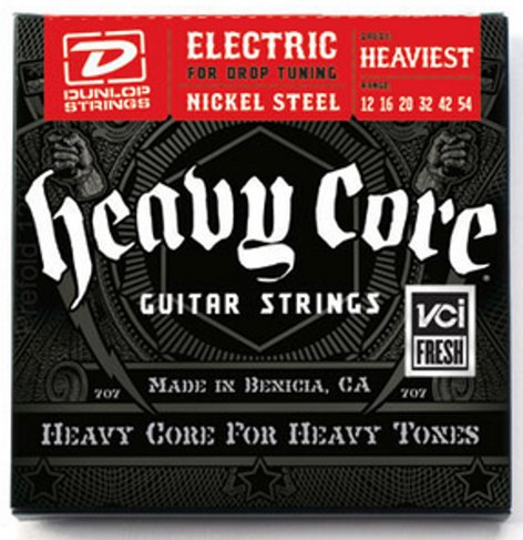 Dunlop Manufacturing Heavy Core Electric Guitar Strings Heaviest Strings, Electric 12-54, 6/set, Heaviest DHCN1254