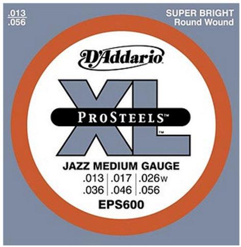 D`Addario EPS600 Jazz Medium XL ProSteels Electric Guitar Strings EPS600