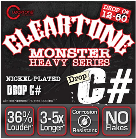"Cleartone Guitar Strings 9460 .012-.060"" Drop C# Electric Guitar Strings 9460-CLEARTONE"