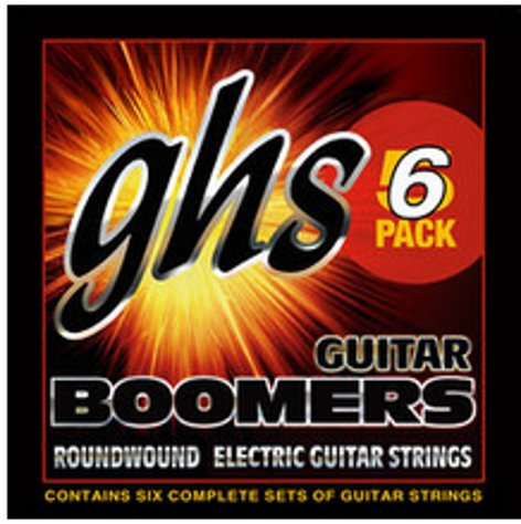 GHS Strings GBL-5 Six-Pack of Light Boomers Electric Guitar Strings GBL-5