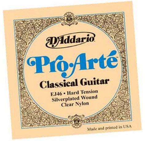 D`Addario EJ46 Hard Tension ProArte Silver Classical Guitar Strings EJ46