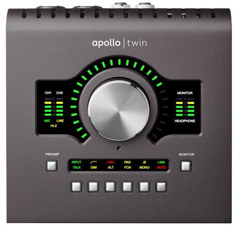 Universal Audio Apollo Twin MkII Quad Desktop 2x6 Thunderbolt Audio Interface with Realtime UAD-2 Quad Processing APOLLO-TWIN-QUAD-II