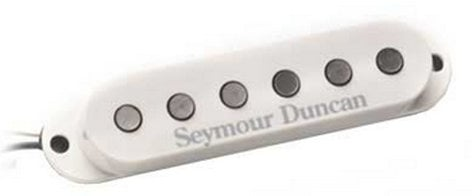 Seymour Duncan SSL-5 Custom Staggered Strat, White Cover Single-Coil Guitar Pickup, Custom Staggered Strat, White Cover SSL-5