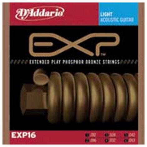 D`Addario EXP16 Light EXP Coated Phosphor Bronze Acoustic Guitar Strings EXP16