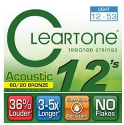 Cleartone Guitar Strings 7612 Light Coated Acoustic Guitar Strings 7612-CLEARTONE