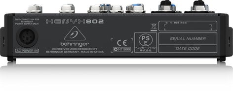 Behringer XENYX 802 8-Input, 2-Bus Compact Mixer with (2) XENYX Microphone Preamplifiers XENYX-802