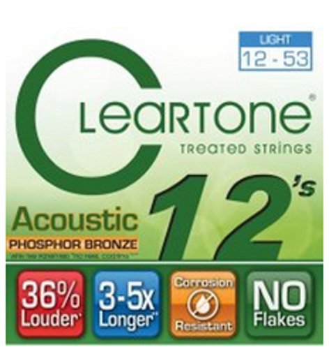 Cleartone Guitar Strings 7412 Light Acoustic Guitar Strings with Coating 7412-CLEARTONE
