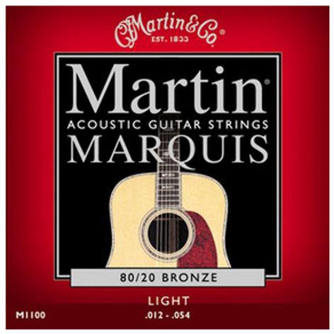 Martin Strings M1100 Marquis 80/20 Bronze Light Acoustic Guitar Strings M1100-MARTIN