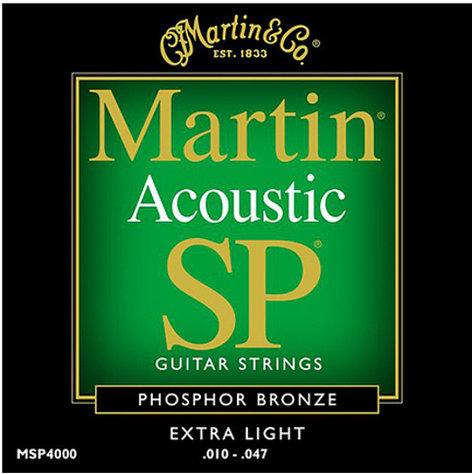 Martin Strings MSP4000 Extra Light Martin SP Phosphor Bronze Acoustic Guitar Strings MSP4000