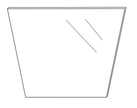 ikan Corporation PT2500-G Replacement Glass for PT-ELITE Teleprompter PT2500-G