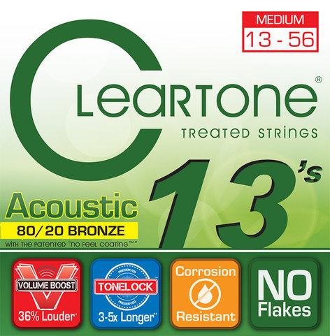 Cleartone Guitar Strings 7613 Medium Coated Acoustic Guitar Strings 7613-CLEARTONE