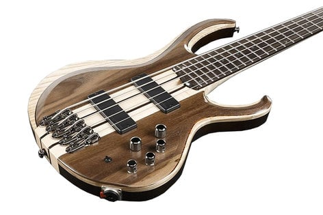 Ibanez BTB745 5-String Electric Bass with Rosewood Fretboard, Natural Low Gloss Finish BTB745NTL