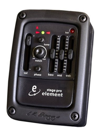 LR Baggs Stagepro Element Undersaddle Pickup with Preamp and Tuner STAGEPRO-ELEMENT