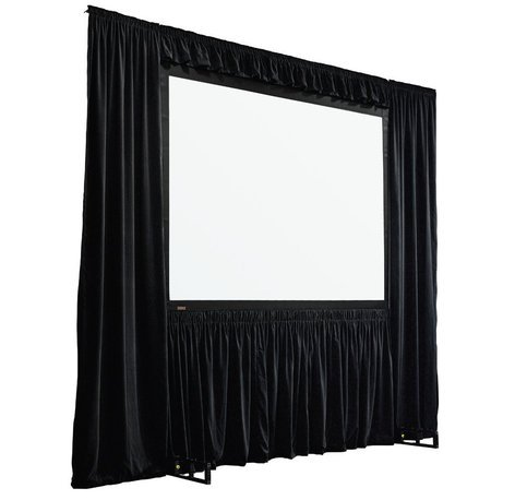 Draper Shade and Screen StageScreen Dress Kit, model 384003 in Black IFR Velour, with Case 384003