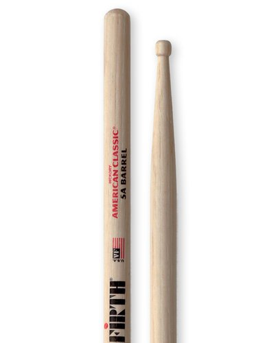 Vic Firth 5A Barrel Tip 1 Pair of Barrel Tipped Drum Sticks 5ABRL