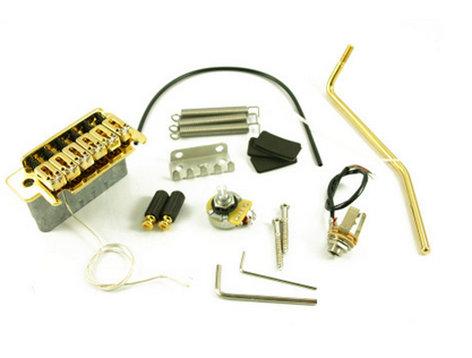 LR Baggs XB-USG Electric Guitar 2-Post Piezo Tremolo Bridge in Gold XB-USG