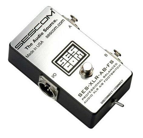 Sescom SES-XLR-AB-FS Balanced XLR A/B Passive Foot Switch with Disconnect/Mute SES-XLR-AB-FS