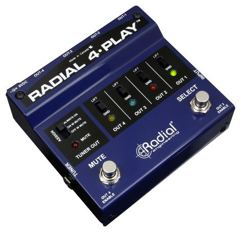 Radial Engineering 4-Play Multi-channel instrument DI 4-PLAY