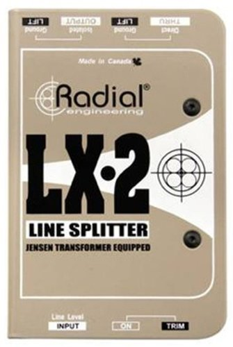 Radial Engineering LX-2 2-Channel Passive Line Level Splitter LX-2