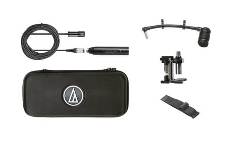 "Audio-Technica ATM350D  Cardioid Condenser Instrument Microphone with Drum Mounting System, 5"" Gooseneck ATM350D"