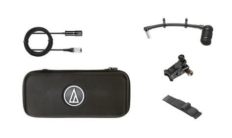 Audio-Technica ATM350UcW Cardioid Condenser Clip-on Instrument Microphone with Universal Mounting System ATM350UCW