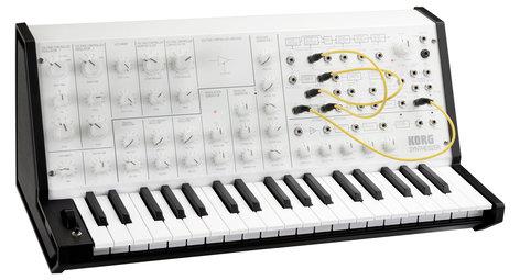 Korg MS-20 mini Monophonic Analog Synthesizer, White MS20MINI-WH