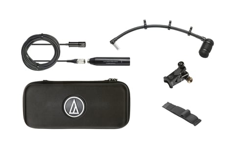 """Audio-Technica ATM350UL  Cardioid Condenser Instrument Microphone with Universal Clip-on Mounting System, 9"""" Gooseneck ATM350UL"""