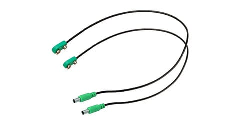 BBE SUPA-VINTAGE-TYPE 2-Pack Supa-Charger Power Supply Cables for Vintage Pedals in Green SUPA-VINTAGE-TYPE