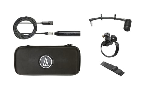 "Audio-Technica ATM350W Cardioid Condenser Instrument Microphone with Woodwind Mounting System, 5"" Gooseneck ATM350W"
