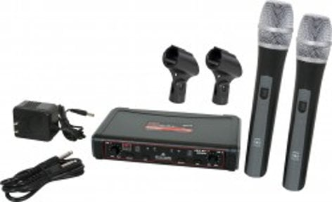 Galaxy Audio EDXR/HH38 EDXR Receiver and 2 HH38 Handheld Transmitters EDXR/HH38