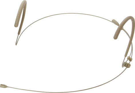 Galaxy Audio HSM3 Dual Earhook Headset Microphone, Beige, with Four Cables HSM3-OBG