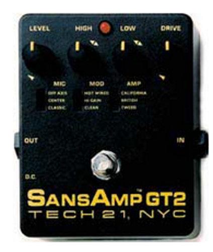 Tech 21 GT2 Guitar Pre Amp GT2-SANSAMP