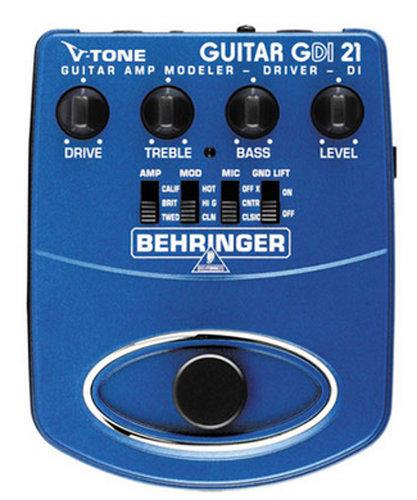 Behringer GDI21 Direct Box/Guitar Amp Modeler GDI21