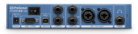 PreSonus STUDIO-68 Studio 68 6x6 USB 2.0 Audio/MIDI Interface STUDIO-68